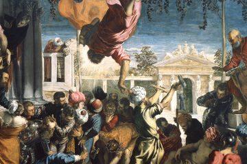 Tintoretto San Marcos libera a un esclavo 1547 48 miniatura