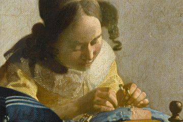 Vermeer La encajera 1669 70 miniatura