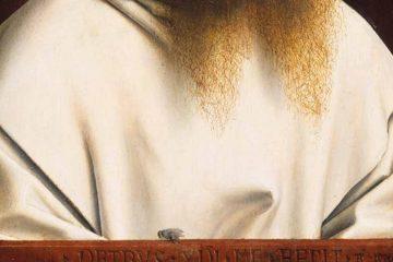 Christus Retrato de un cartujano hacia 1446 miniatura