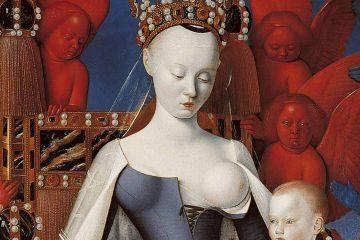 Fouquet Virgen con el Niño y ángeles o díptico de Melun 1450 mini