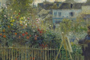 enoir, Monet Painting in His Garden at Argenteuil, 1873 mini