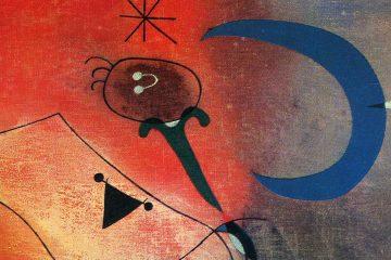 MIró Mujer y pájaro bajo la luz de la luna 1949 mini