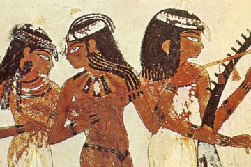 Pintura Egipcia Tumba de Nakht mini