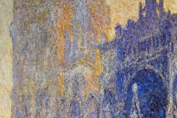 La Catedral de Rouen, el Portal Bajo el Sol Matinal, Armonía en Azul (1894). MINI