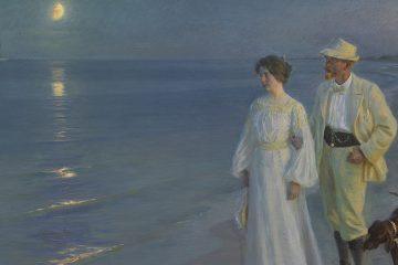 Kroyer Tarde de verano en Skaden. El artista y su esposa 1899 mini