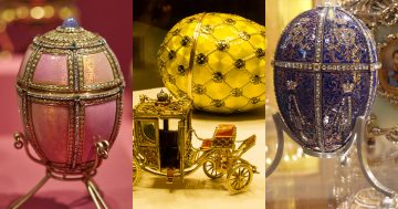 c6 Huevos de Fabergé miniatura