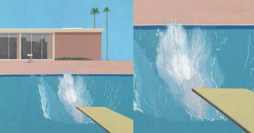 Hockney A bigger splash 1967 miniatura
